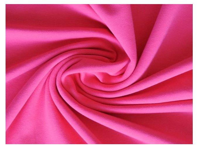Elastická teplákovina sytě růžová 240 / 290 g