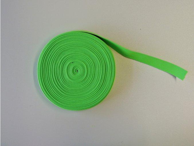Pruženka plochá 21mm neon zelená