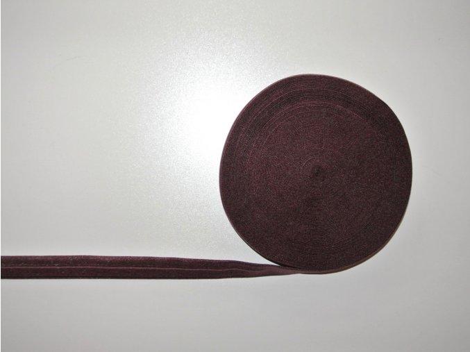 Pruženka lemovací 19 mm hnědá