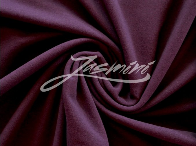 Elastická teplákovina tmavě fialová 290g