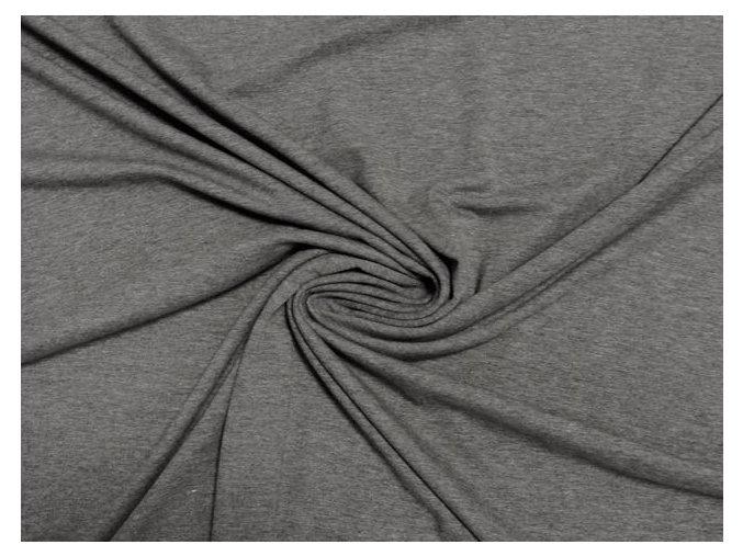 Elastický úplet tmavě šedý melír 200g