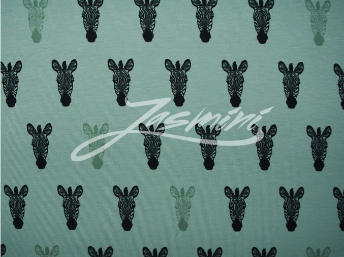 Elastický úplet zebry na zelené