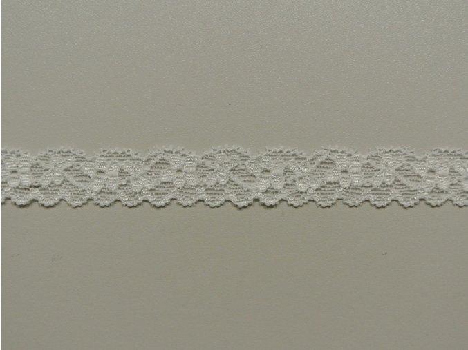 Elastická krajka kytky krémové 18mm