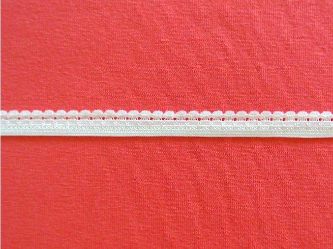 Pruženka ozdobná bílá 9mm