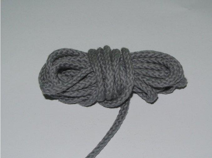 Šňůrka oděvní kulatá šedá 5,3mm