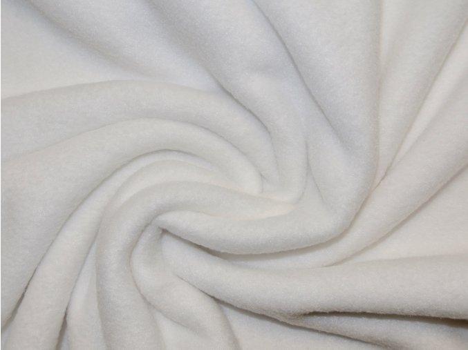 Fleece bílý (zbytek S VADOU)