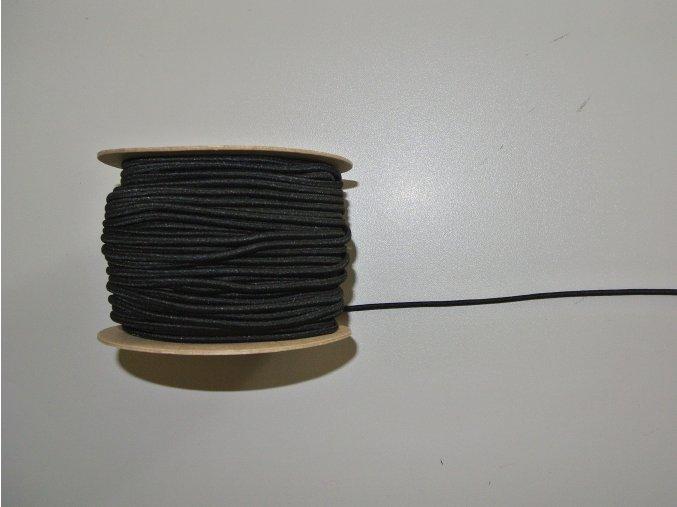 Guma klobouková černá 3mm