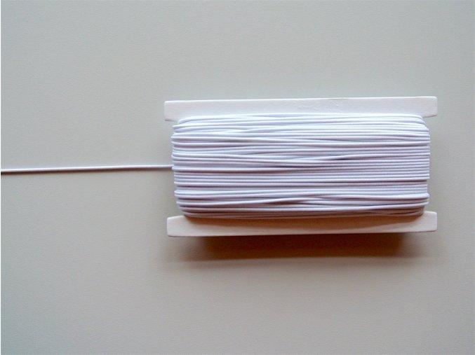 Guma klobouková bílá 1,4mm
