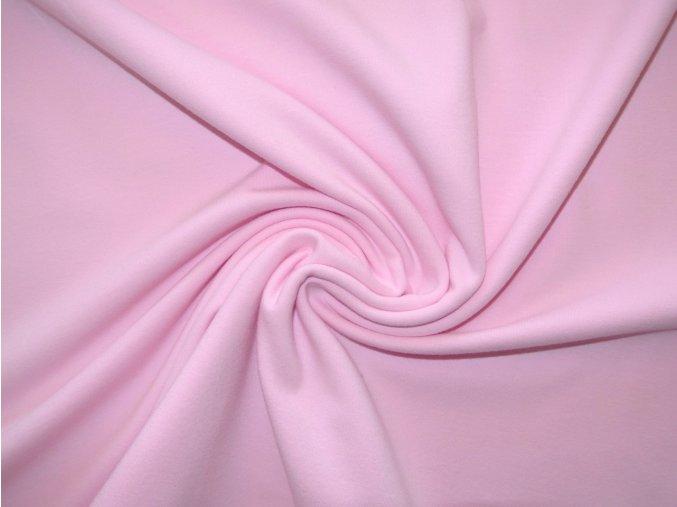 Elastická teplákovina světle růžová 240 / 290g