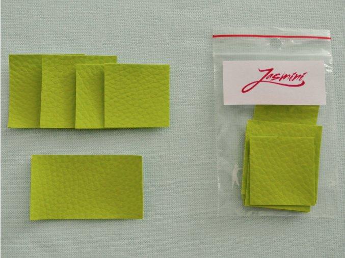 Štítky koženkové zelené výrazné