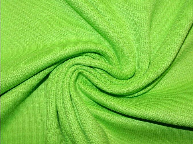 Náplet žebro 2x2 zelený