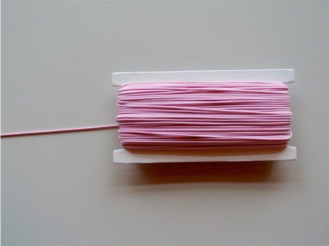 Guma klobouková světlá růžová 1,4mm