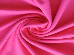 Elastická teplákovina sytě růžová 240g (zbytek)
