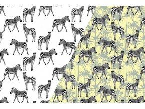 Elastický UV úplet se zebrami