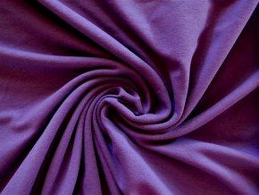 Elastická teplákovina fialová 290g - II.jakost