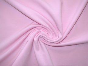 Elastická teplákovina světle růžová 240g (zbytek)