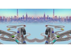 Elastický úplet křižovatka ve městě (panel)