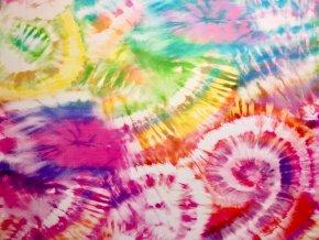 Elastická teplákovina batika