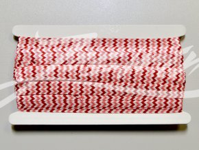 Pruženka lemovací 15mm cik-cak červeno-růžový