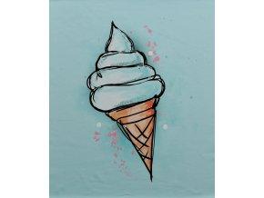 Elastická teplákovina zmrzlina - světlý tyrkys (panel)