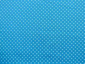 Plátno bílý puntík na tyrkysové
