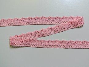 Bavlněná krajka paličkovaná 26mm světle růžová