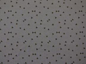 Elastický úplet trojúhelníčky na šedé