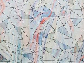 Elastická teplákovina geometrie na mramoru (digitisk)