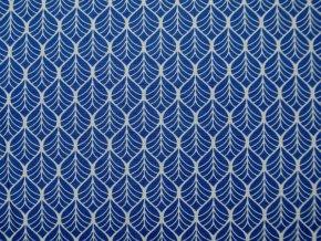 Plátno ornamenty na modré