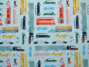 Elastická teplákovina doprava ve městě (digitisk)