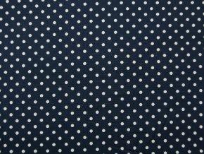 Plátno bílý puntík na tmavě modré