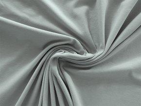 Bavlněný úplet jednolíc světle šedý (vyšší gramáž)