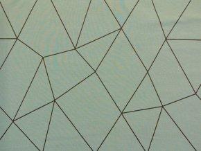 Elastická teplákovina geometrie na olivové (zbytek S VADOU)