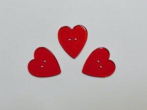 Knoflík srdce červené