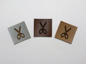 Štítek nůžky (koženka)