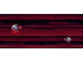 Elastický úplet piraně červené (panel)