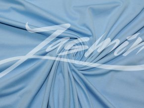 Bavlněný úplet jednolíc světle modrý (vyšší gramáž) - zbytek