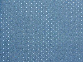 Riflovina světle modrá s drobnými véčky