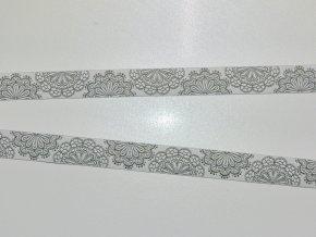 Stuha mandaly na šedé