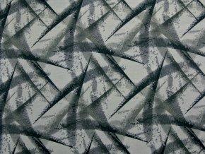 Elastická teplákovina abstrakce šedá (digitisk)
