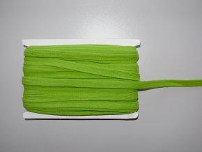 Šňůrka plochá 17mm zelená