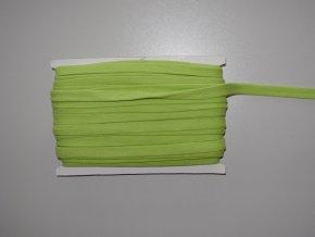 Šňůrka plochá 17mm světle zelená