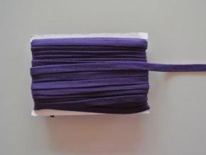 Šňůrka plochá 17mm tmavě fialová