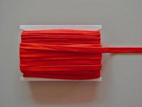 Šňůrka plochá 17mm červená