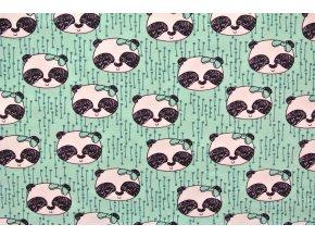 Elastický bio úplet pandy mentol
