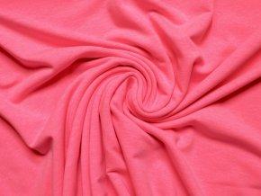 Elastická teplákovina neon růžová