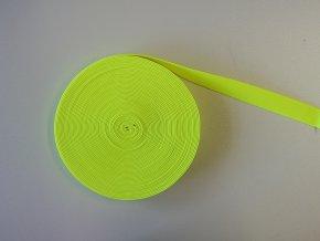 Pruženka plochá 21mm neon žlutá