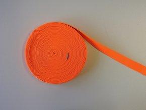 Pruženka plochá 21mm neon oranžová