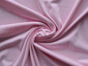 Bavlněný úplet jednolíc světle růžový (zbytek S VADOU)