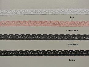Elastická krajka vějířky 12 mm